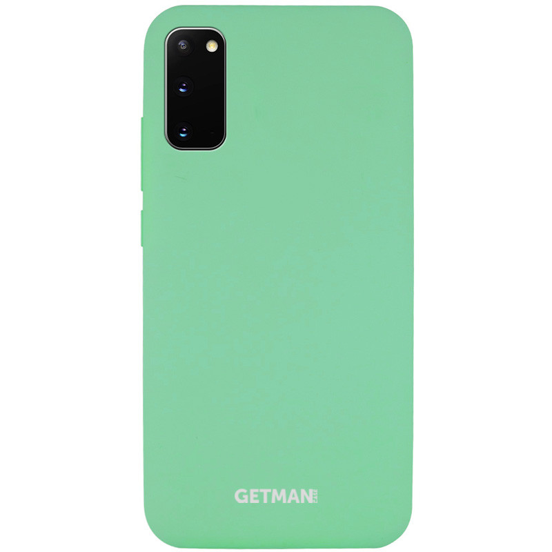 Чехол Silicone Cover GETMAN for Magnet для Samsung Galaxy S20