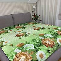 """Летнее одеяло покрывало """"Цветы"""" двуспальное, 175/205"""