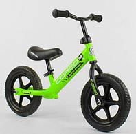 Беговел, велобег Corso 19005 стальная рама, колесо 12«, EVA, пена
