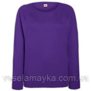 Фиолетовый женский приталенный свитшот (Толстовка-реглан)