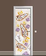 Вінілова наклейка на двері Лавандовий Акцент самоклеюча ламінація плівка асорті Фіолетовий 650*2000мм