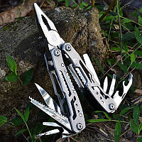 Мультитул 14 в 1 Многофункциональный нож , Карманный нож в чехле Отвертка, Пласкогубцы, фото 1