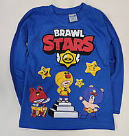 Детская кофта реглан для мальчика Бравл Старс brawl stars светло синяя 5-6 лет