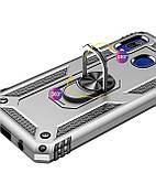 Ударопрочный чехол Serge Ring магнитный держатель для Samsung Galaxy A20 / A30, фото 3