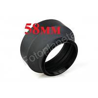 Бленда универсальная резиновая целиндрическая 58 мм