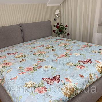 Літній ковдру покривало двоспальне окантованное, 175/210