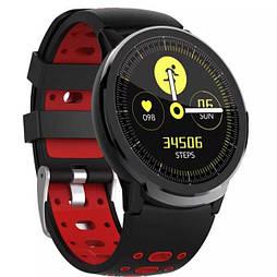 Мужские смарт-часы с пульсометром и тонометром SENBONO S10 Pro красные