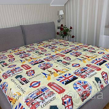 """Літній ковдру покривало """"Лондон"""" двоспальне окантованное, 175/210"""