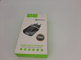 СЗУ HOCO C12Q Smart QC3.0 (1USB/3A) (черный)