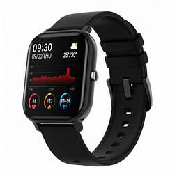 Смарт-часы унисекс Colmi P8 с Bluetooth, пульсометром, тонометром, анти-потеря Черный