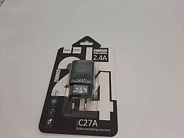 СЗУ HOCO C27A (1USB/2.4A) (черный)