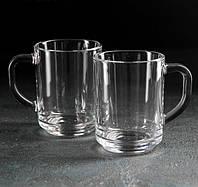 """Набір скляних кухлів 250 мл """"Mugs 55029"""" 2шт."""
