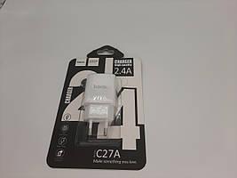 СЗУ HOCO C27A (1USB/2.4A) (белый)