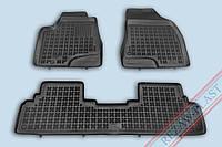 Коврики в салон Lexus RX 2009-2012 (Лексус РХ) REZAW PLAST Полиуретан Черные Комлект из 4-х ковриков