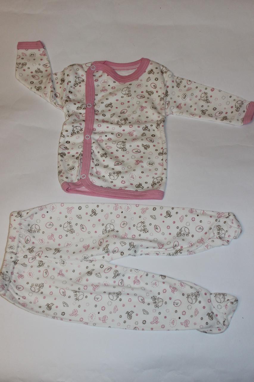 Детский белый комплект для новорожденной девочки в роддомдетс Размер 62 см