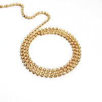 Стразовая цепь Preciosa (Чехия) ss4.5 Crystal/золото