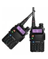 Комплект раций Baofeng UV-5R Security 2шт 5 Ватт батарея 1800 мАч НАУШНИКИ 136-174 / 400-520 МГц