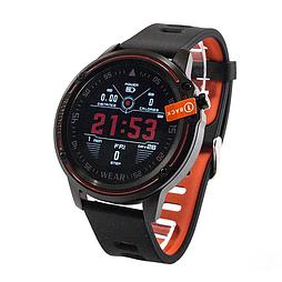 Мужские смарт-часы Microwear L8 Black-Red (SWL8RD)