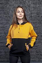 Молодежный женский свитшот,батник, худи двухцветный в разных цветах. Размеры S, M, L, XL.