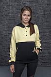 Молодежный женский свитшот,батник, худи двухцветный в разных цветах. Размеры S, M, L, XL., фото 5