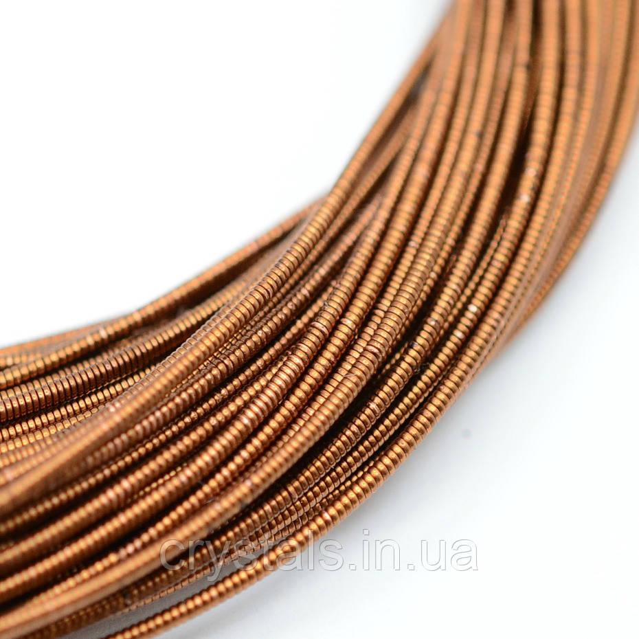 Тяганина жорстка 1.25 мм, коричневий