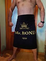 Полотенце для бани и сауны мужское, именное, банное вышивка золотом. Именное полотенце в подарок.Ручная работа