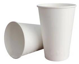 Стакан паперовий білий 340мл 50шт