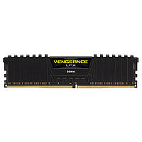 Оперативная память DDR4 16GB/2400 Corsair Vengeance LPX Black (CMK16GX4M1A2400C14)