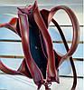 684-3 Натуральная кожа Сумка женская бордоая кожаная марсал женская сумка из натуральной кожи среднего размера, фото 4