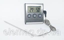 Цифровой термометр для духовки (печи) с выносным датчиком до 300°С , с таймером