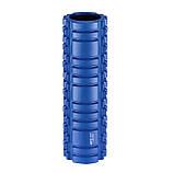 Массажный ролик (валик, роллер, ролл) 4FIZJO 45 x 15 см 4FJ0106 Blue для йоги и фитнеса, фото 2
