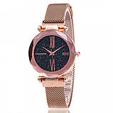 Женские наручные часы Starry Sky Watch на магнитной застёжке Розовый, фото 6