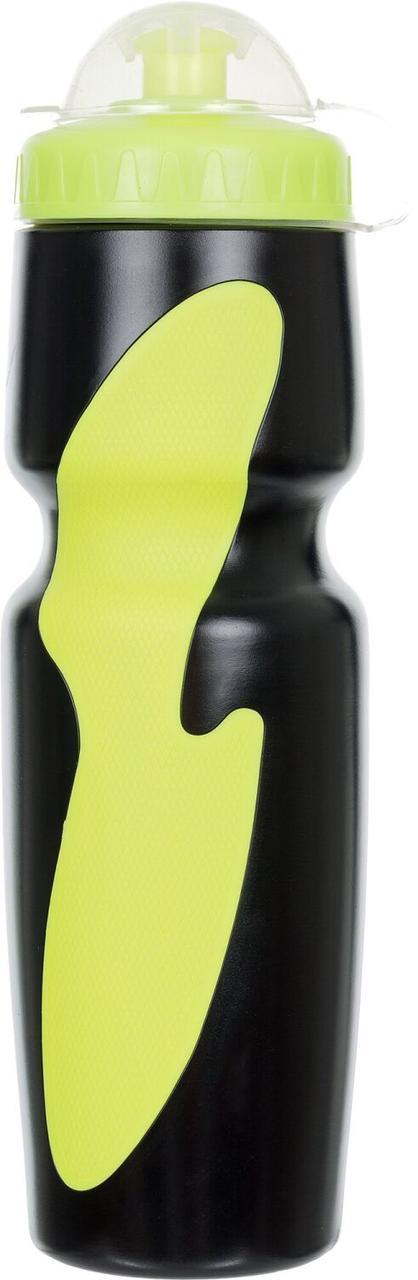 Фляжка Stern, черный/зеленый