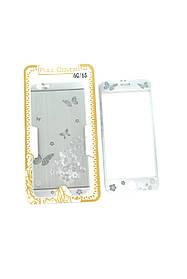 Защитное стекло iPhone 6 COLORFUL Silver (2pcs) гравировка butterflyl