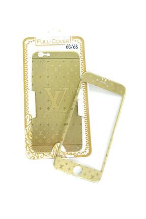 Захисне скло iPhone 6 COLORFUL Gold (2pcs) гравірування LVl, фото 2