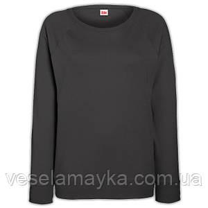 Темно-серый женский приталенный свитшот (Толстовка-реглан)