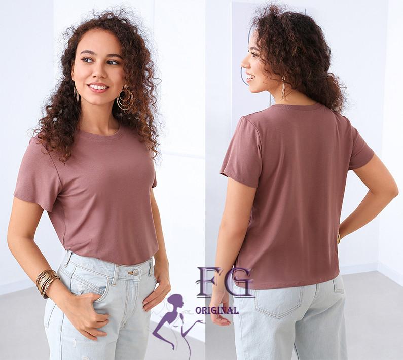 """Базовая женская футболка """"One color"""" р. 42-44, 46-48"""