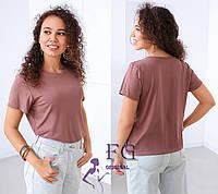 """Базовая женская футболка """"One color"""" р. 42-44, 46-48, фото 1"""