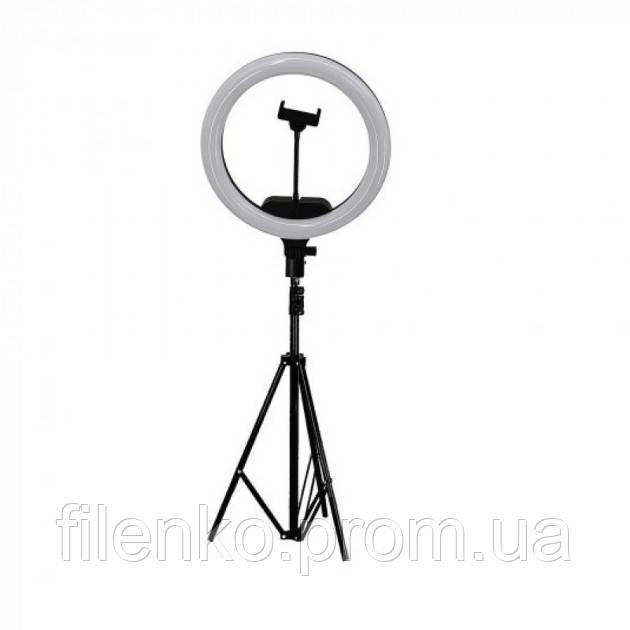 Кільцева лампа зі штативом LED Ring Fill Light AL33 33 см з кріпленням для телефону 220В