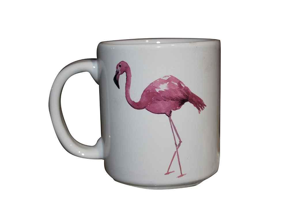 """Чашка керамика 300 мл Фламинго упаковка 6 шт """"Полигенько"""""""