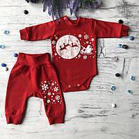 Теплый Новогодний костюм на мальчика и девочку 12. Размер 62 см,  68 см, 74 см, 80 см, 86 см
