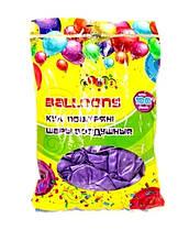 """Кульки 2,8 грам, 12 """", перламутрові 100шт кольору: Бузковий"""