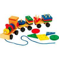 Развивающая игрушка Мир деревянных игрушек Паровозик малый (Д163)