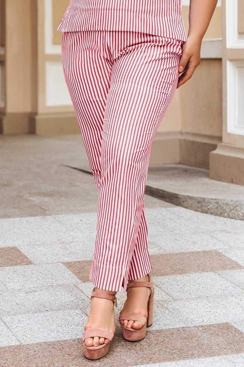 Летние брюки большого размера Паула красный