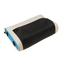 🔝 Электромассажер, массажная подушка с подогревом, Smile бежево-черная, роликовый массажер для шеи  | 🎁%🚚
