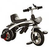 Трехколесный велосипед-беговел трансформер с  поворотным сиденьем на надувных колесах, Turbotrike бежевый, фото 3