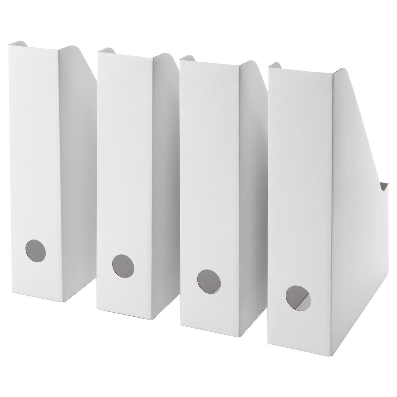 IKEA FLUNS (003.241.32) Підставка для журналів, білий