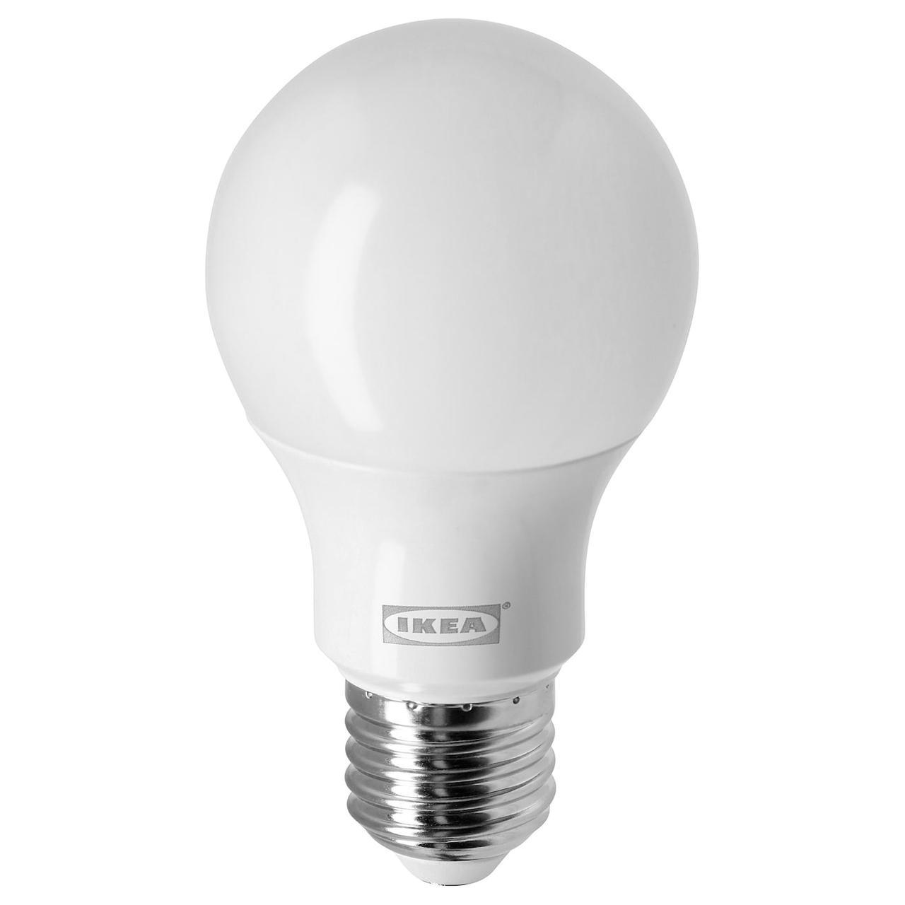 IKEA RYET (204.387.07) LED лампа E27 470 лм, кругла молочний