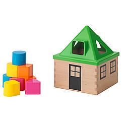 IKEA MULA (102.948.89) Коробка для кубиків-головоломки, різнобарвний