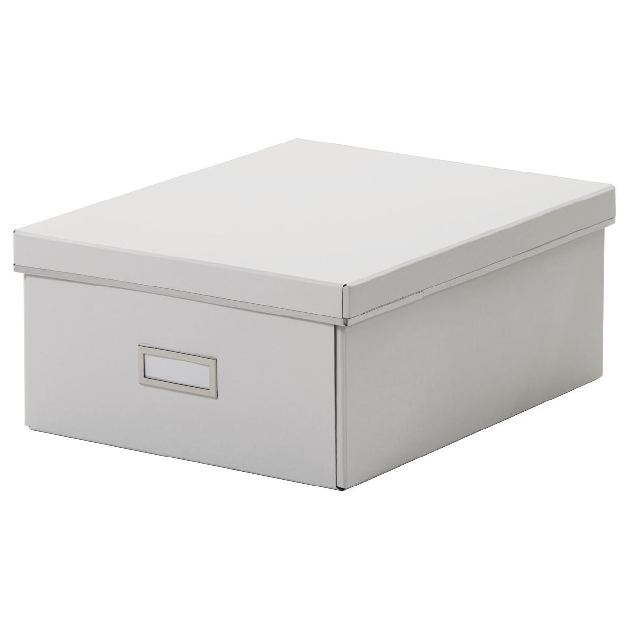 IKEA SMARASSEL (203.000.07) Коробка з кришкою, білий 27x35x15 см